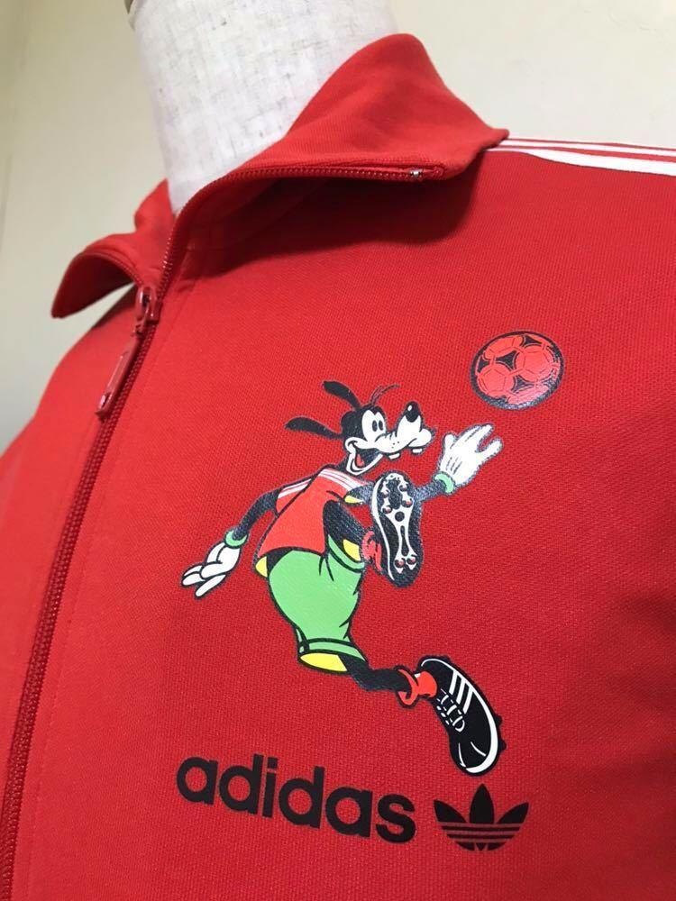 adidas originals アディダス オリジナルス ディズニー グーフィー ジャージ トラックトップ レッド サッカー サイズS 長袖 938005 赤_画像10