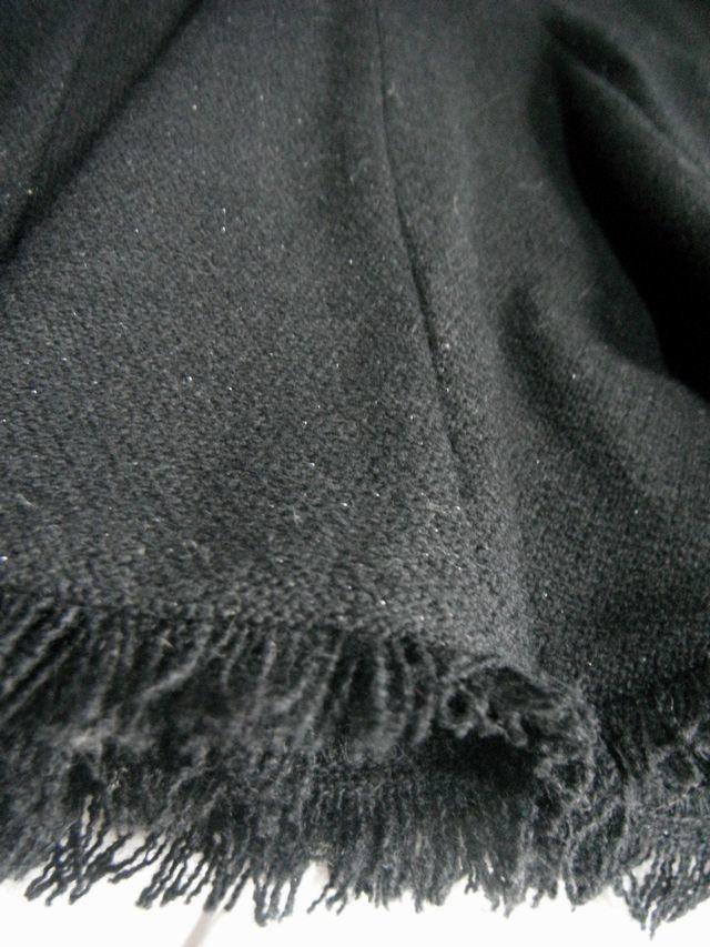 ☆A.O. アツキ オオニシ ATSUKI ONISHI☆スカート ボトムス レディース 裾フレアー/フリンジ 黒ブラック ラメ☆W61_画像2