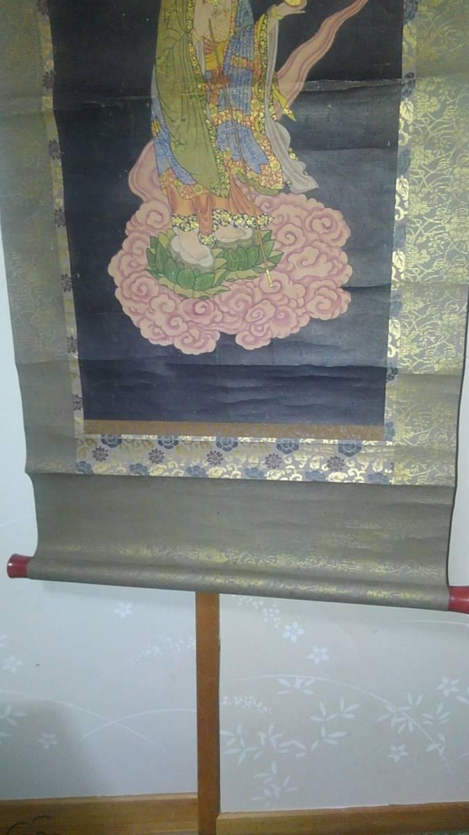 古い仏画 掛軸 B_画像5