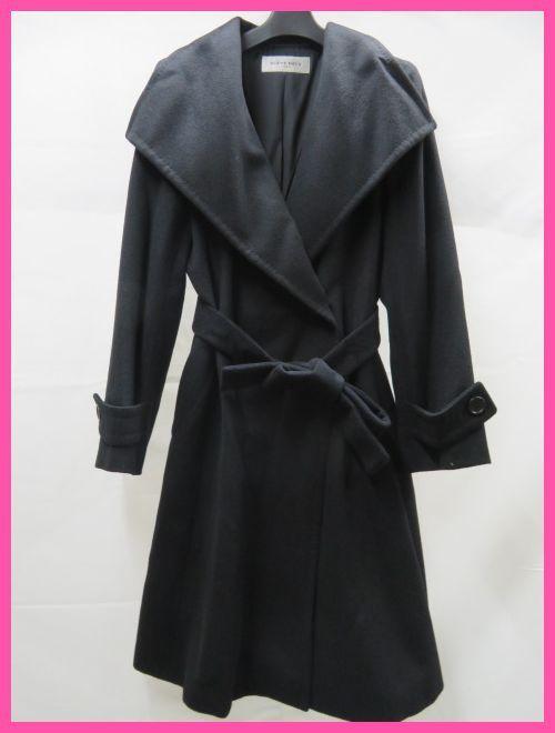 極上品 SCENE DEUX セーヌドゥ カシミヤコート9号 ブラック 東京スタイル_画像1