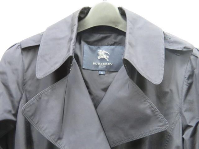 極美品 バーバリー トレンチコート レディース 38 裾フリル_画像2