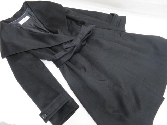 極上品 SCENE DEUX セーヌドゥ カシミヤコート9号 ブラック 東京スタイル_画像2
