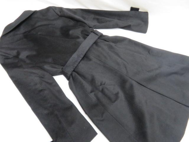 極上品 SCENE DEUX セーヌドゥ カシミヤコート9号 ブラック 東京スタイル_画像5