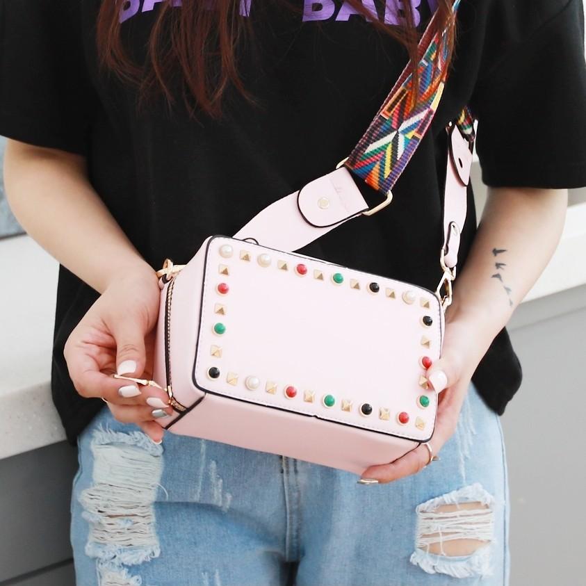 ピンク色 ハンドバッグ/ショルダーバッグ/クラッチバッグ 2WAYバッグ