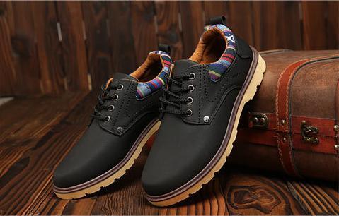 【新品】 26cm ブラック 黒 スニーカー メンズ 紳士 靴 ビジネス カジュアル 防水 レースアップ PU レザー プレーントー シューズ #281_画像3