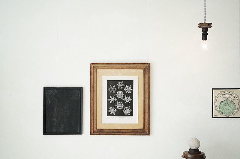 【アンティーク博物図版 雪の結晶 紙もの】ビンテージ ブロカント 紙物 研究 実験 レトロ 古道具 資料 蚤の市 ディスプレイ インテリアに_画像10