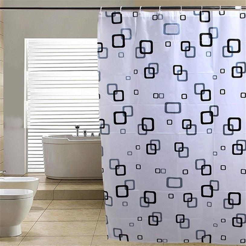 バスカーテン シャワーカーテン 180Χ180cm 厚手 取り付け簡単_画像2