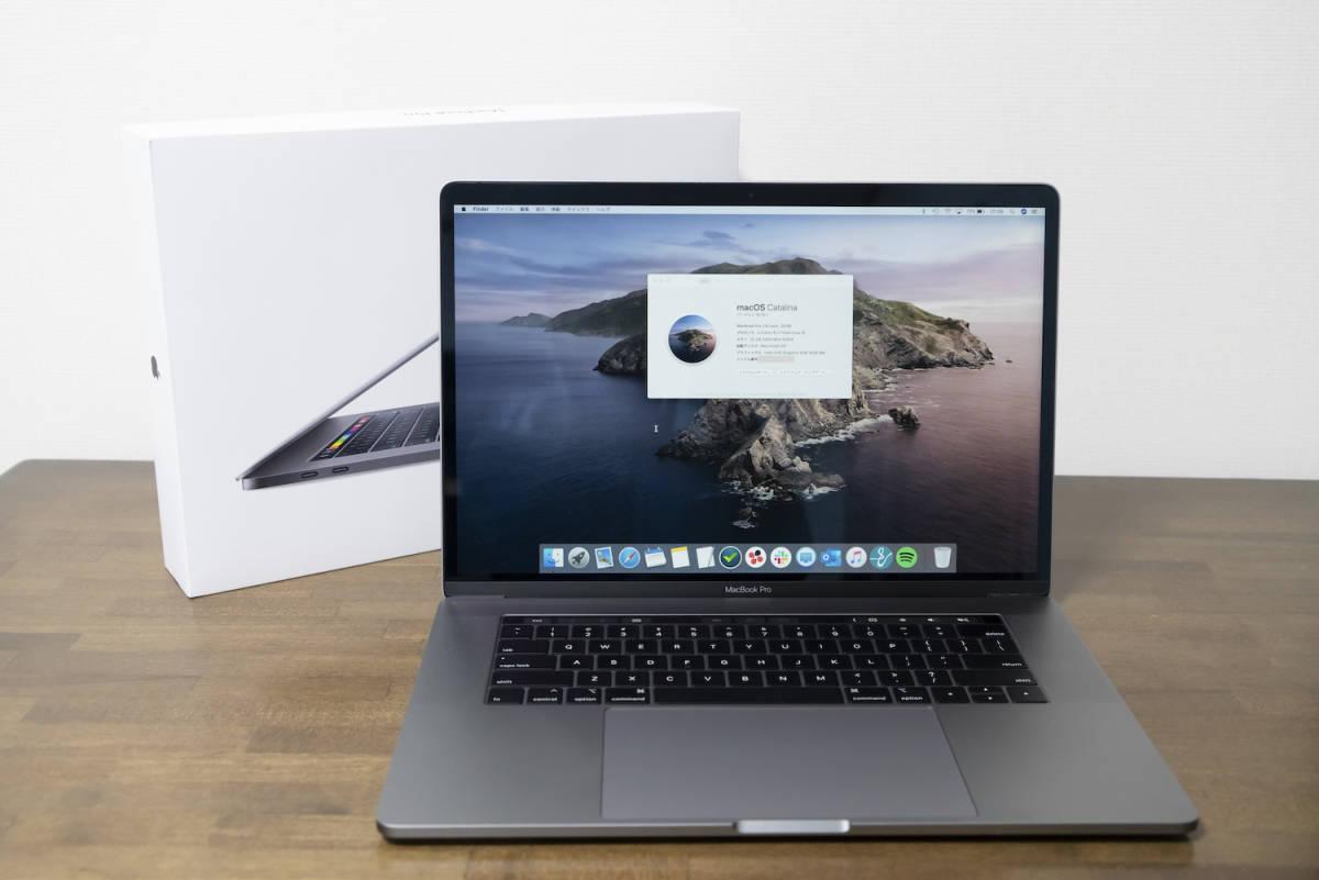 [超美品]MacBook Pro 2019, 15インチ, CPU 2.3GHz 8コア Intel Core i9, USキーボード, スペースグレイ◆保証付