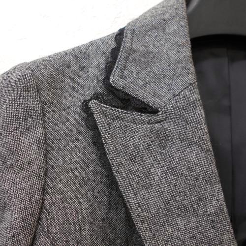 全日本婦人子供服工業組合連合会 レディース ウール混 9号 縁取り レース が綺麗な ジャケット フォーマルにも グレー系 入学式_画像5