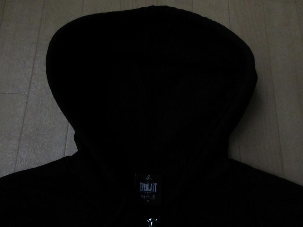 アニエスベー エバーラスト コラボ バックロゴ パーカー M黒 agnes b. EVERLAST フーディー フード スウェット トレーナー アノラックPARIS_画像5