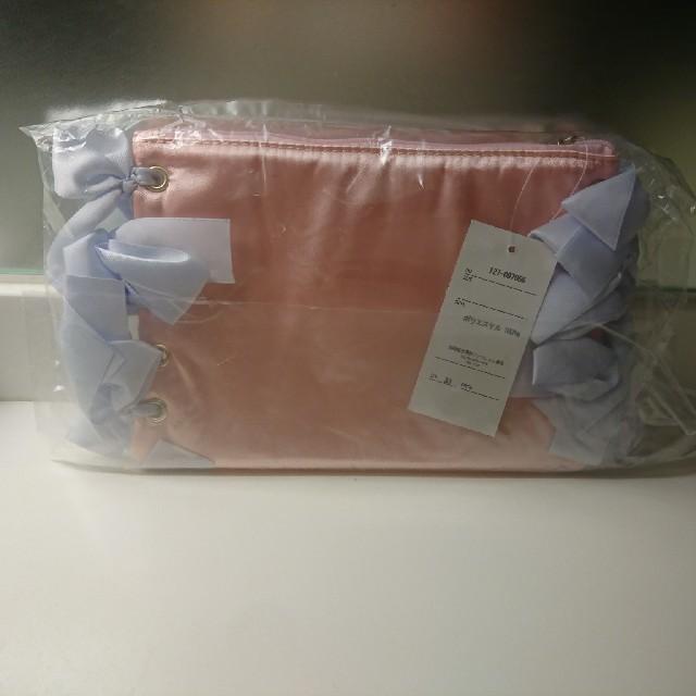 ポーチ ピンク リボン サテン メゾンドフルール