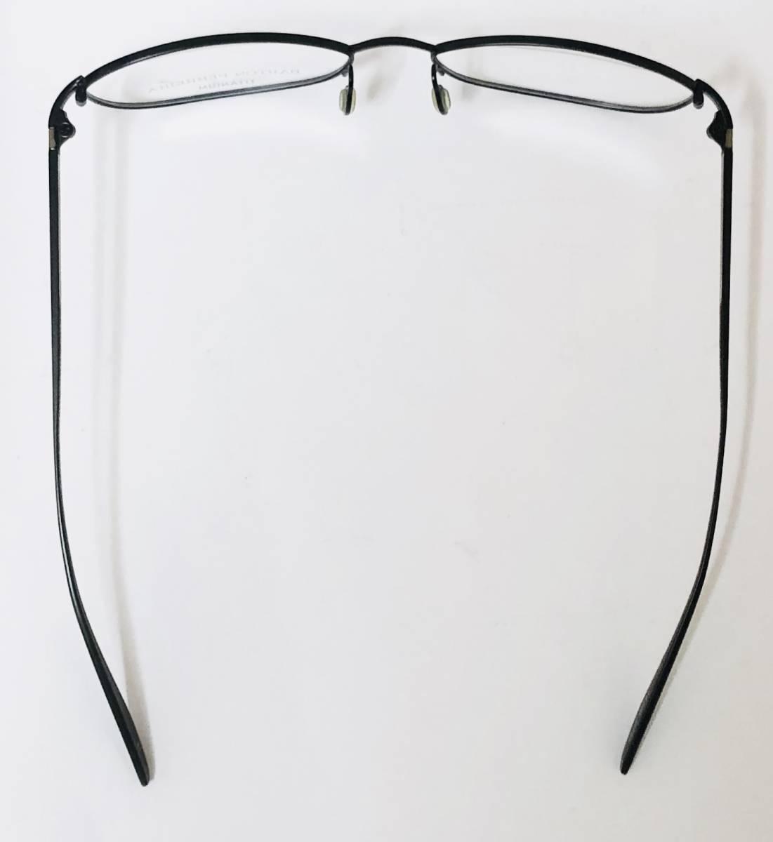 定価 42,500円 バートンペレイラ ヘイゼル チタン製 日本製メガネ 黒 Barton Perreira 米国ブランド _画像8