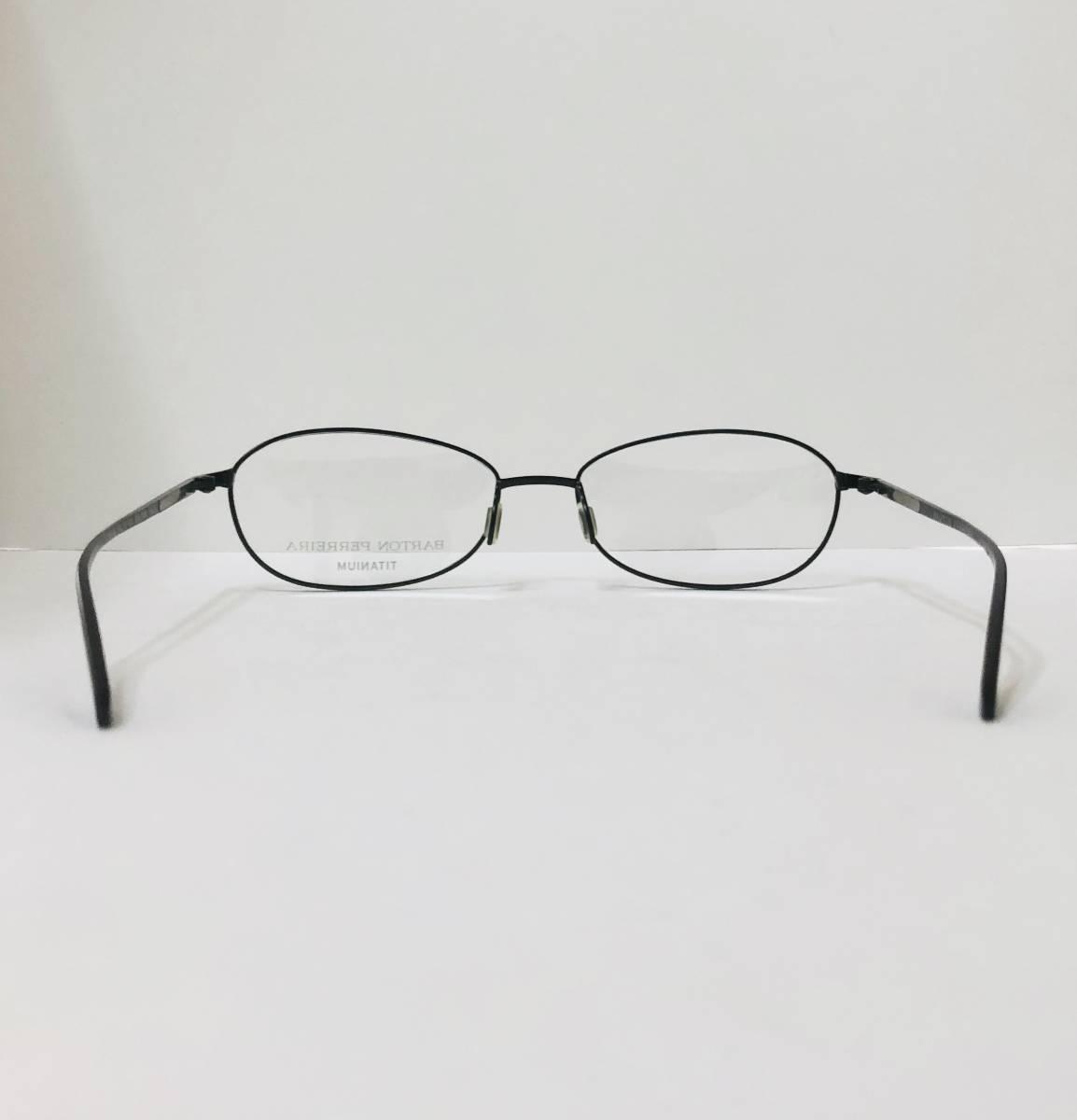 定価 42,500円 バートンペレイラ ヘイゼル チタン製 日本製メガネ 黒 Barton Perreira 米国ブランド _画像7