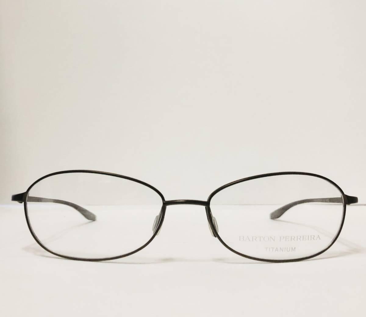 定価 42,500円 バートンペレイラ ヘイゼル チタン製 日本製 黒小金色 Barton Perreira メガネ 米国ブランド_画像2