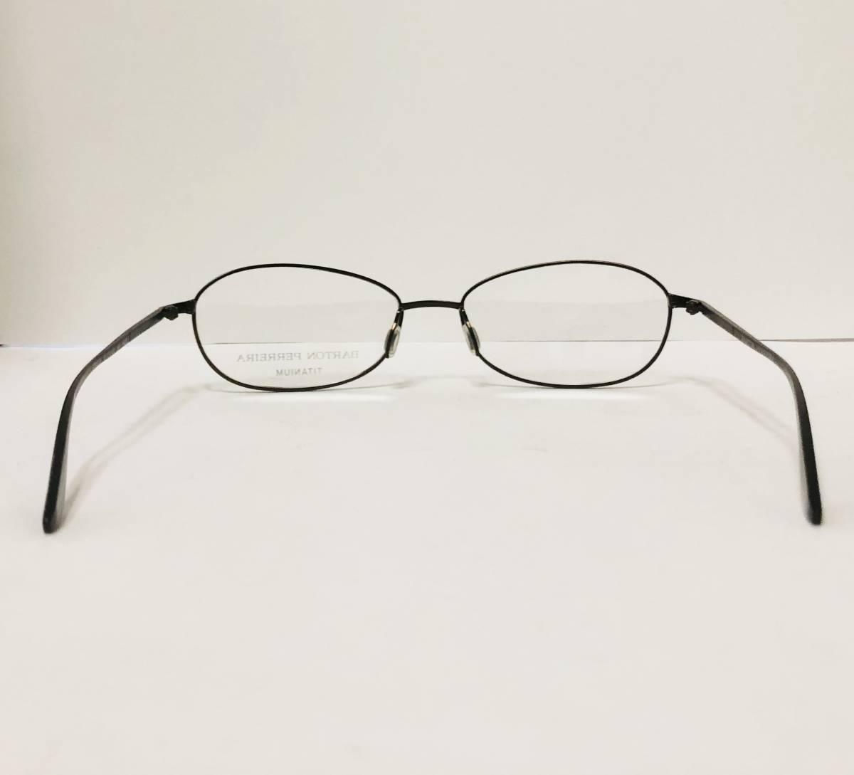 定価 42,500円 バートンペレイラ ヘイゼル チタン製 日本製 黒小金色 Barton Perreira メガネ 米国ブランド_画像8