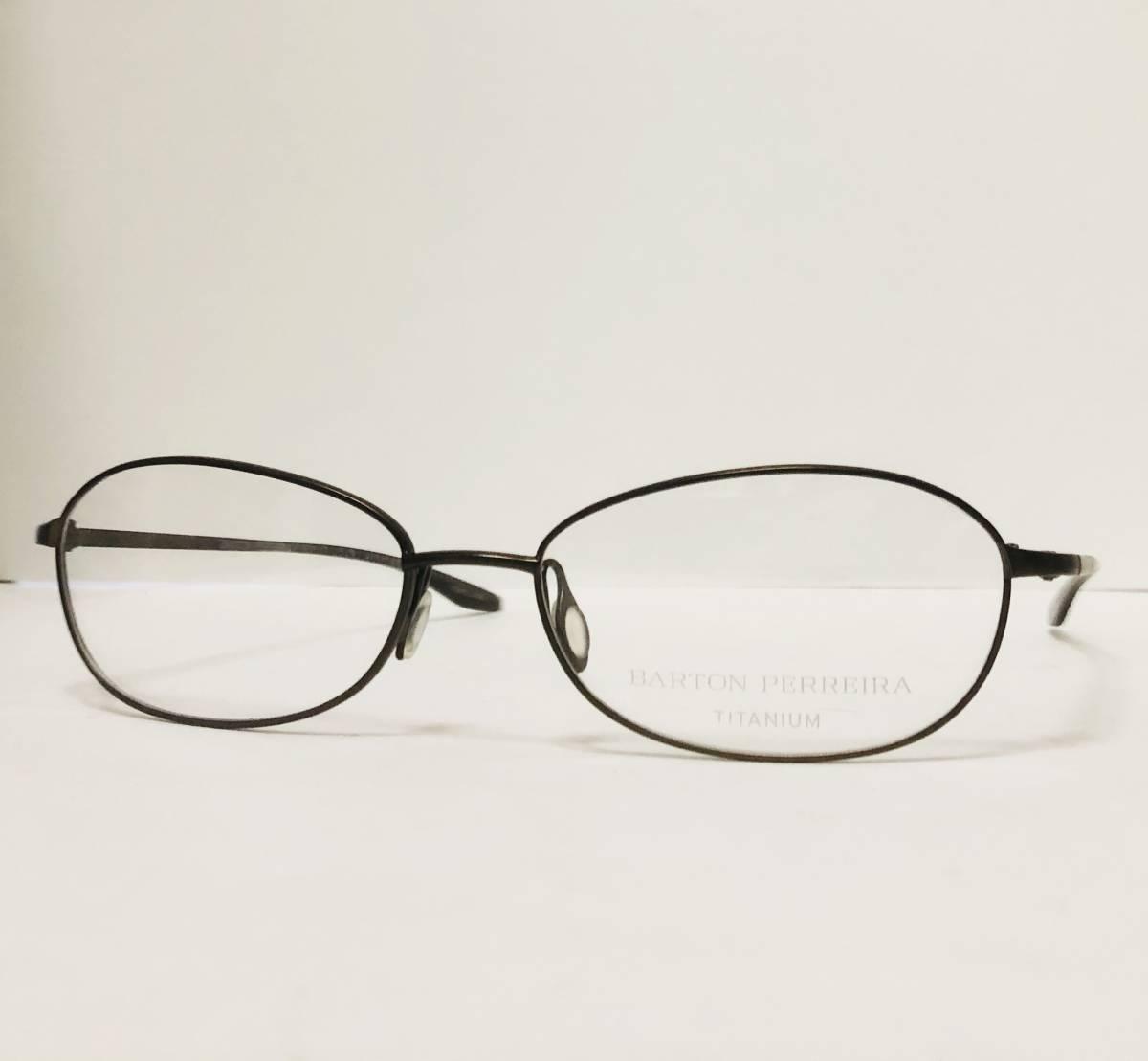 定価 42,500円 バートンペレイラ ヘイゼル チタン製 日本製 黒小金色 Barton Perreira メガネ 米国ブランド_画像3