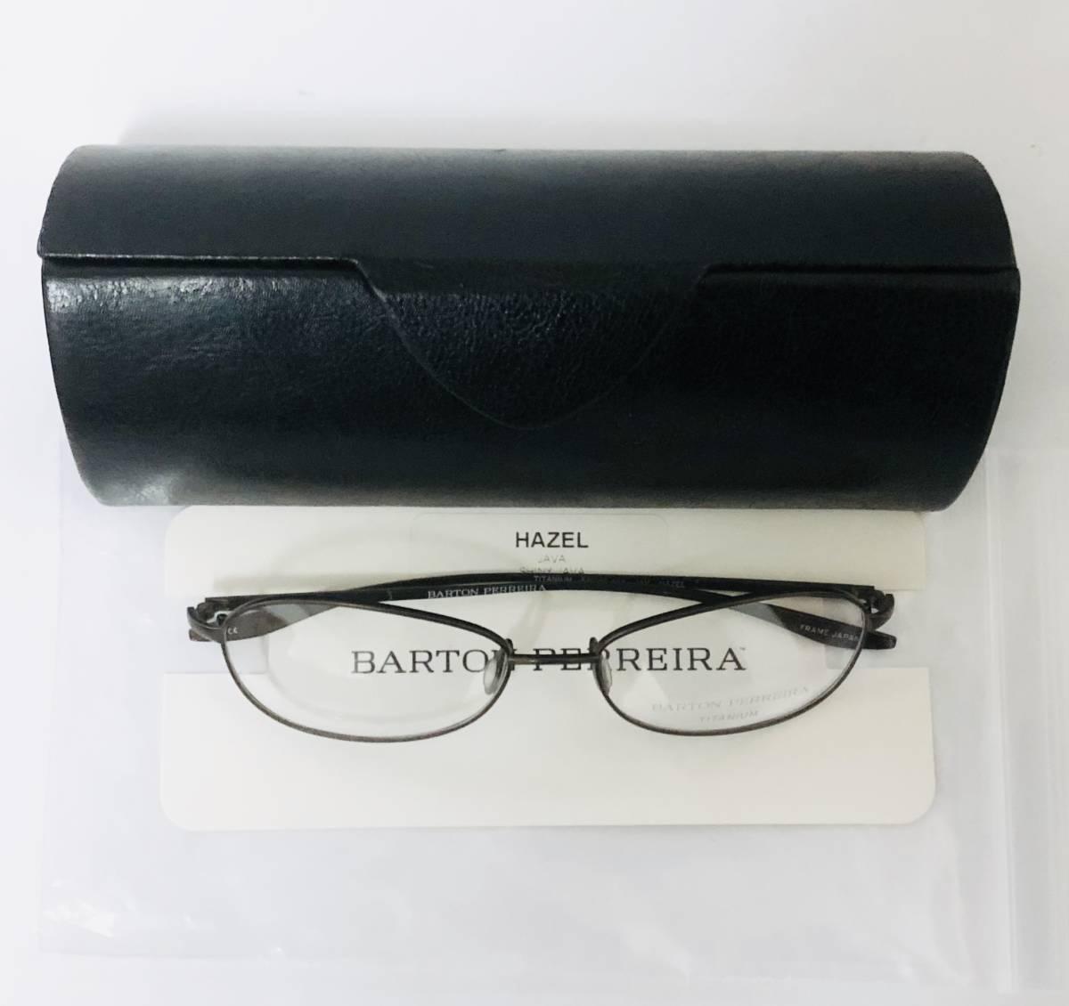 定価 42,500円 バートンペレイラ ヘイゼル チタン製 日本製 黒小金色 Barton Perreira メガネ 米国ブランド_画像10