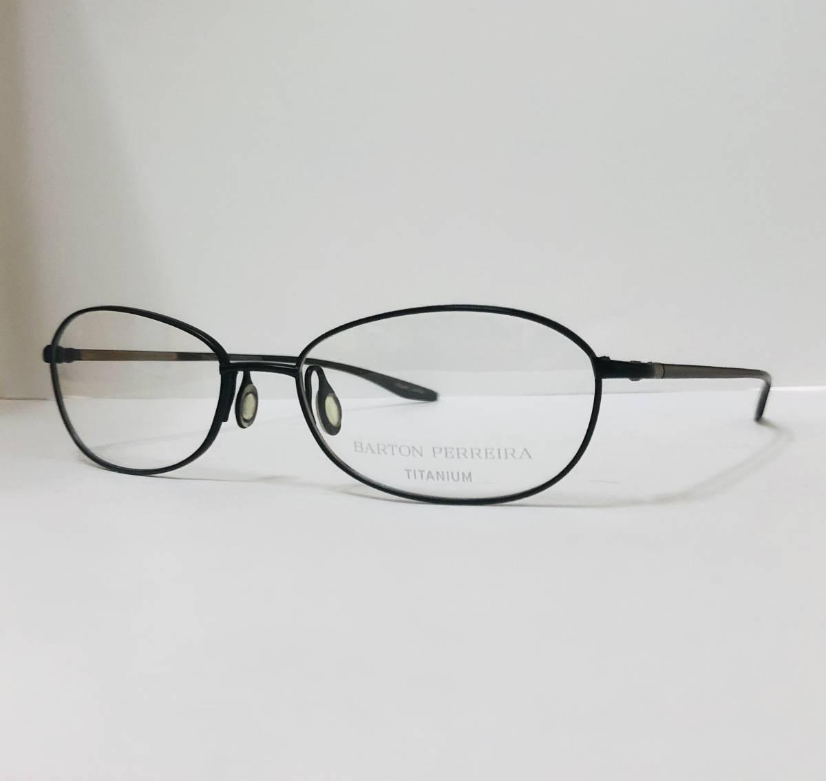 定価 42,500円 バートンペレイラ ヘイゼル チタン製 日本製メガネ 黒 Barton Perreira 米国ブランド _画像3