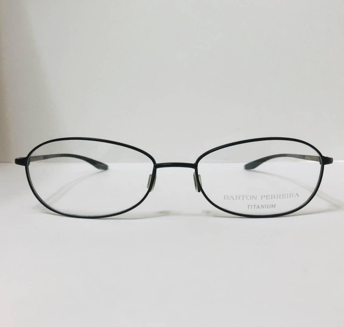 定価 42,500円 バートンペレイラ ヘイゼル チタン製 日本製メガネ 黒 Barton Perreira 米国ブランド _画像2