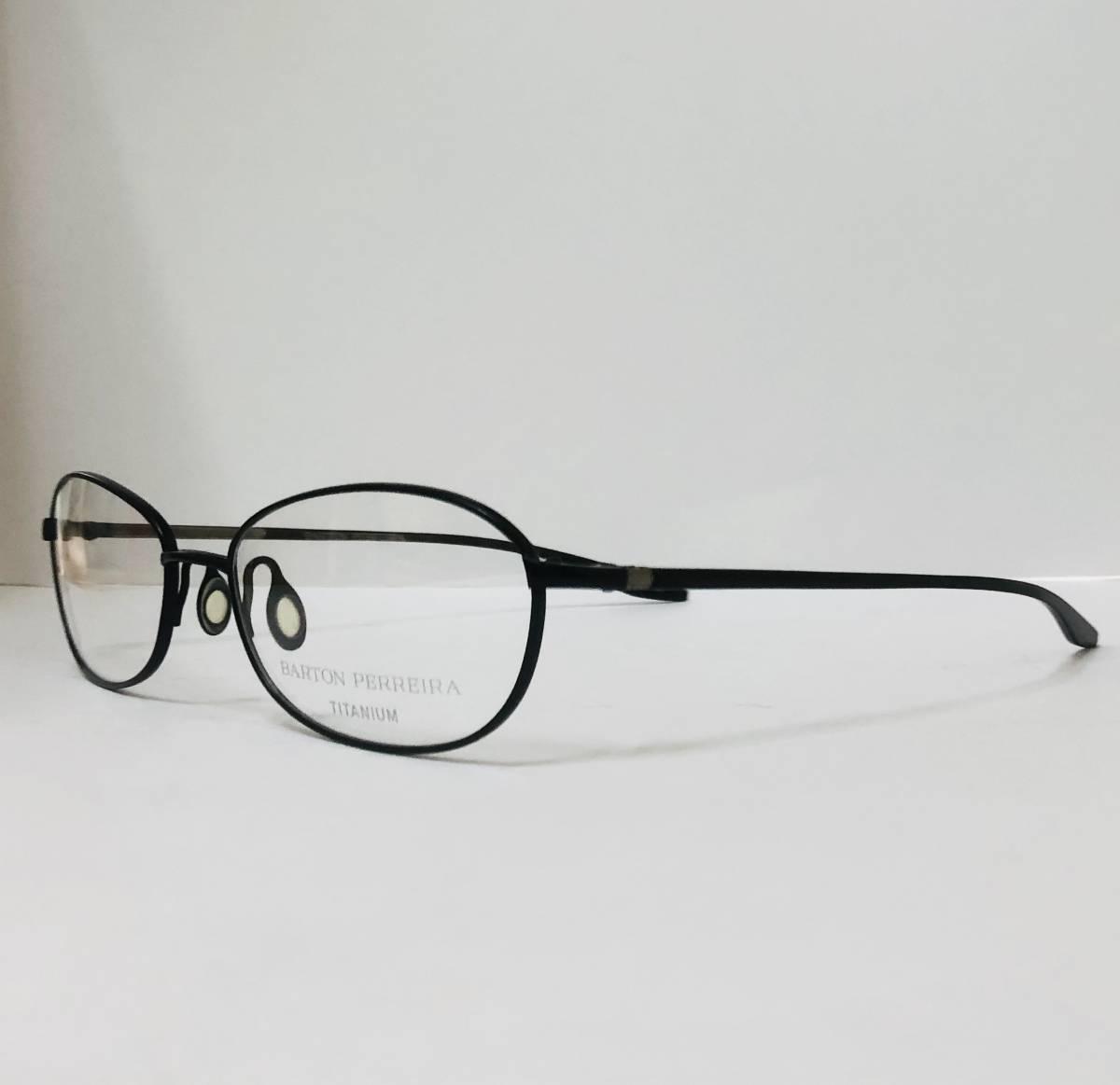 定価 42,500円 バートンペレイラ ヘイゼル チタン製 日本製メガネ 黒 Barton Perreira 米国ブランド _画像1