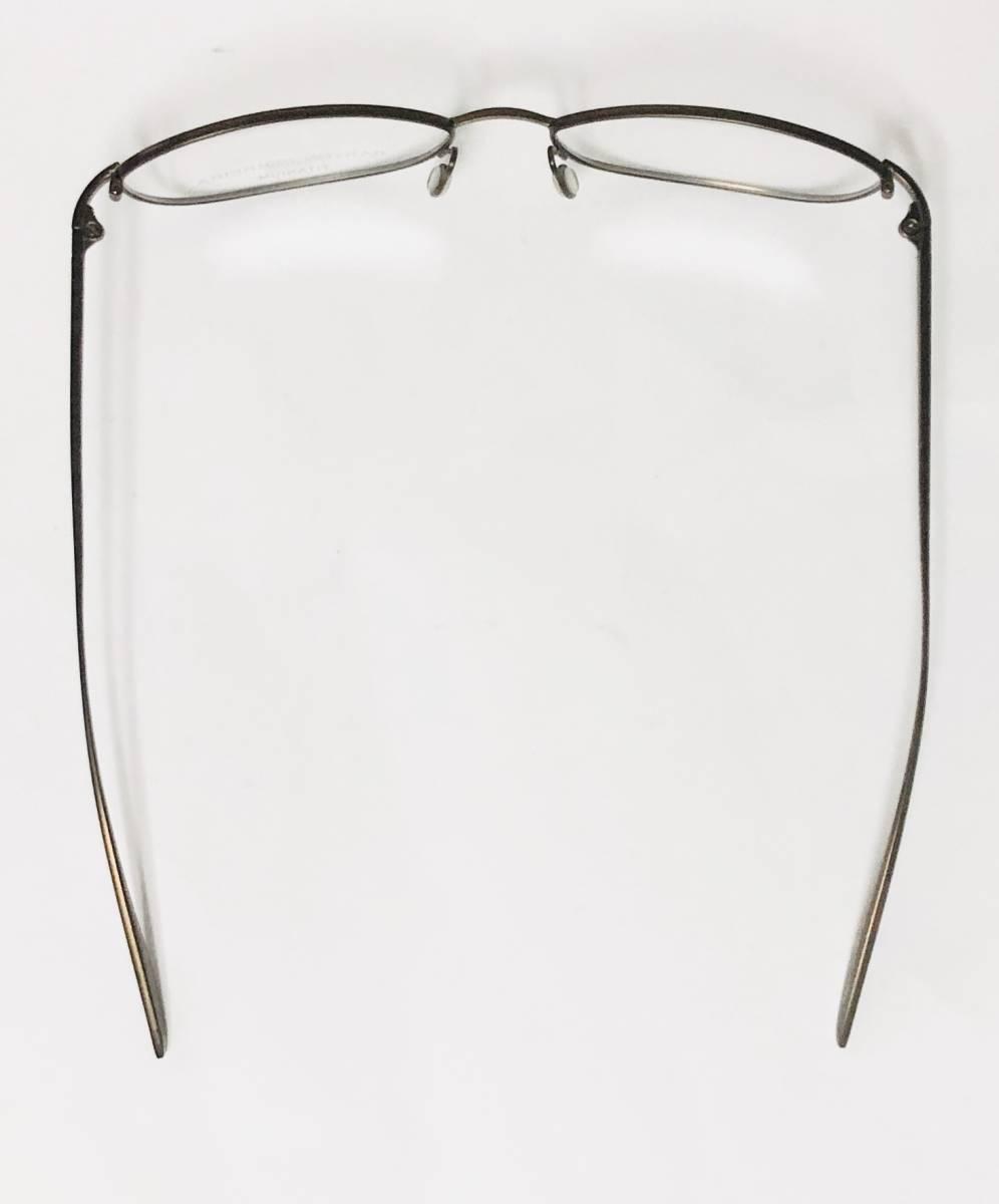 定価 42,500円 バートンペレイラ ヘイゼル チタン製 日本製 黒小金色 Barton Perreira メガネ 米国ブランド_画像9
