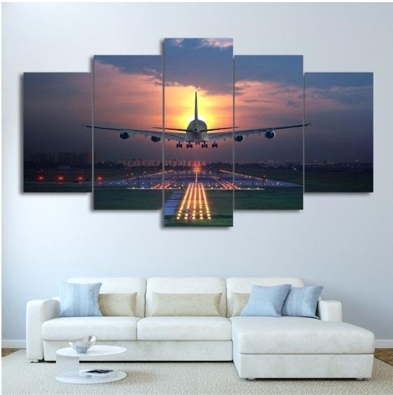 ★☆【大人気!!激安!!!】 飛行機 航空機 ジェット機 キャンバス アートポスター 夕日 壁紙 フレーム Frame10x15 10x20 10x25cm☆★_画像1