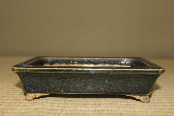 和鉢 初代平安東福寺 緑釉外縁雲足長方鉢