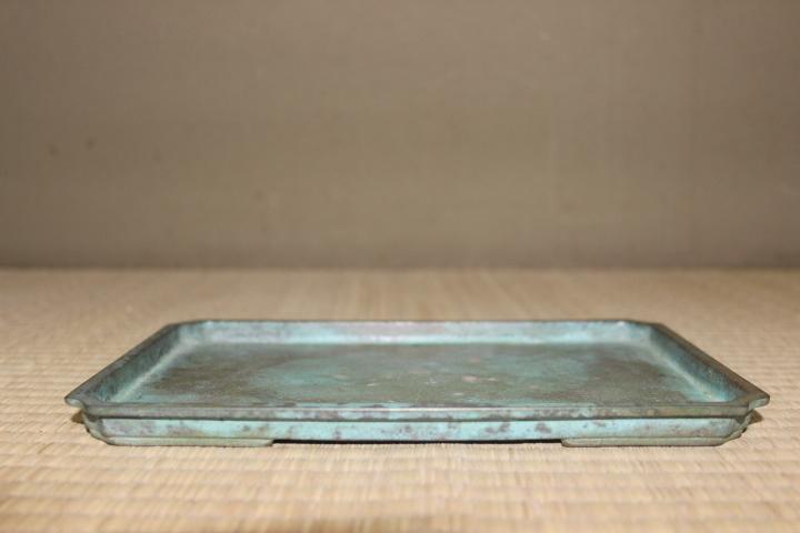 銅盤 【平安】 青銅長方水盤