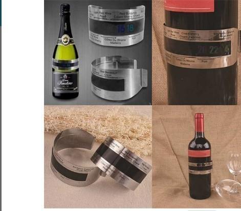 F1711 ステンレス鋼 ワインブレスレット 温度計(4-24'C) ビールホームビール用 赤ワイン温度センサー_画像5