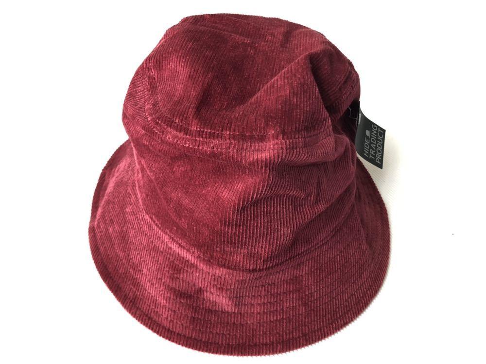 新品 未使用品 ニューヨークシティロゴ コーデュロイ バケットハット  帽子 HAT ワイン NEW YORK & CITY 新品大幅定価割れ 柳2199_画像3
