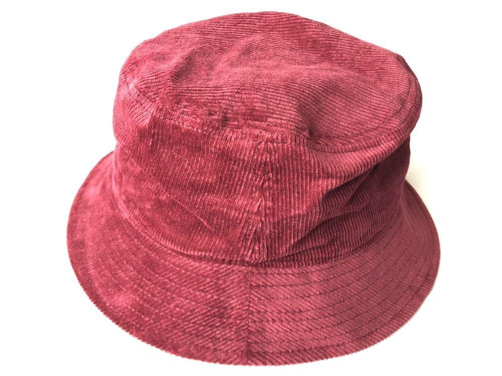 新品 未使用品 ニューヨークシティロゴ コーデュロイ バケットハット  帽子 HAT ワイン NEW YORK & CITY 新品大幅定価割れ 柳2199_画像2