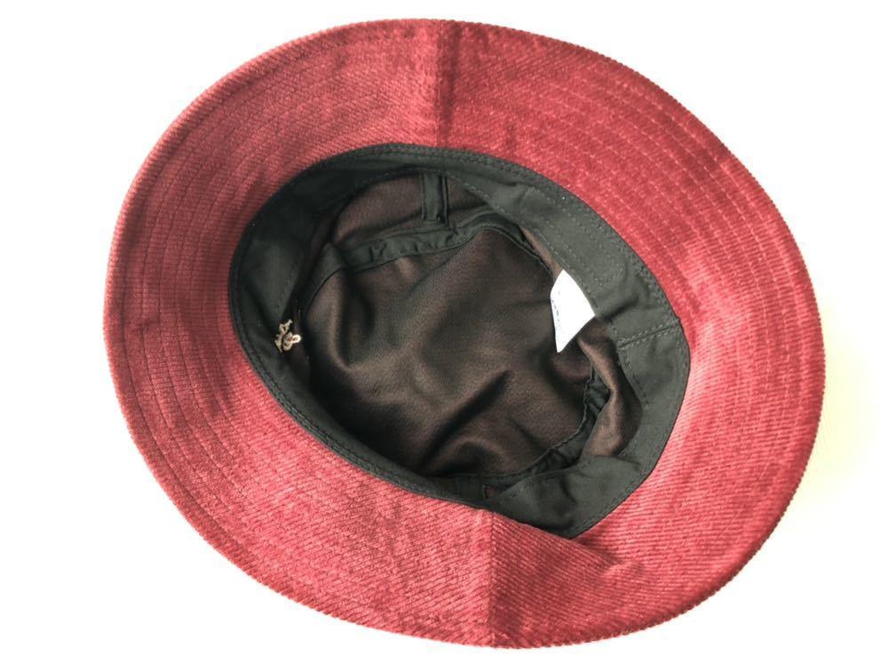 新品 未使用品 ニューヨークシティロゴ コーデュロイ バケットハット  帽子 HAT ワイン NEW YORK & CITY 新品大幅定価割れ 柳2199_画像5