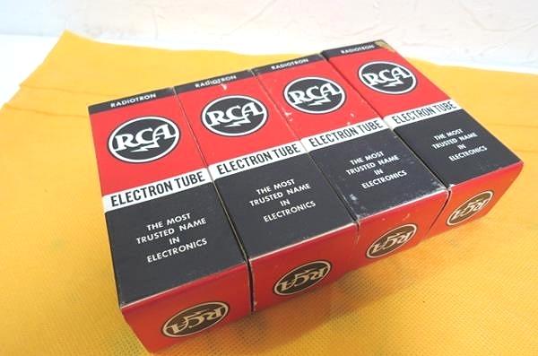 RCA 7027A 真空管4本 6L6GC互換 元箱付 未使用新品 McIntosh MC240_画像10