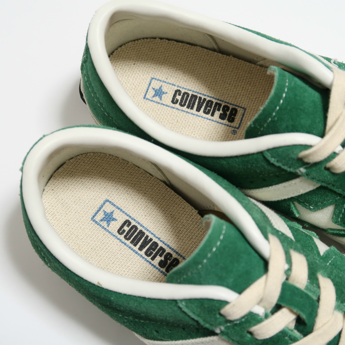 00S CONVERSE JACK STAR 7H SUEDE GREEN M