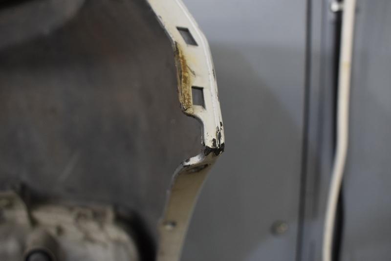 ムーヴ カスタム ターボ 前期(L175S) 純正 破損無 取付OK フロントバンパー フォグ グリル付 W24 52119-B2400 P006715_画像6