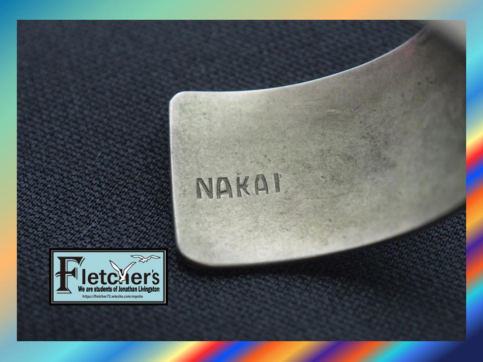 値引き応談 ナバホ族作家NAKAI作 ターコイズ、コーラル&925シルバーバングル インディアンジュエリー ネイティブアクセサリー b68_画像5