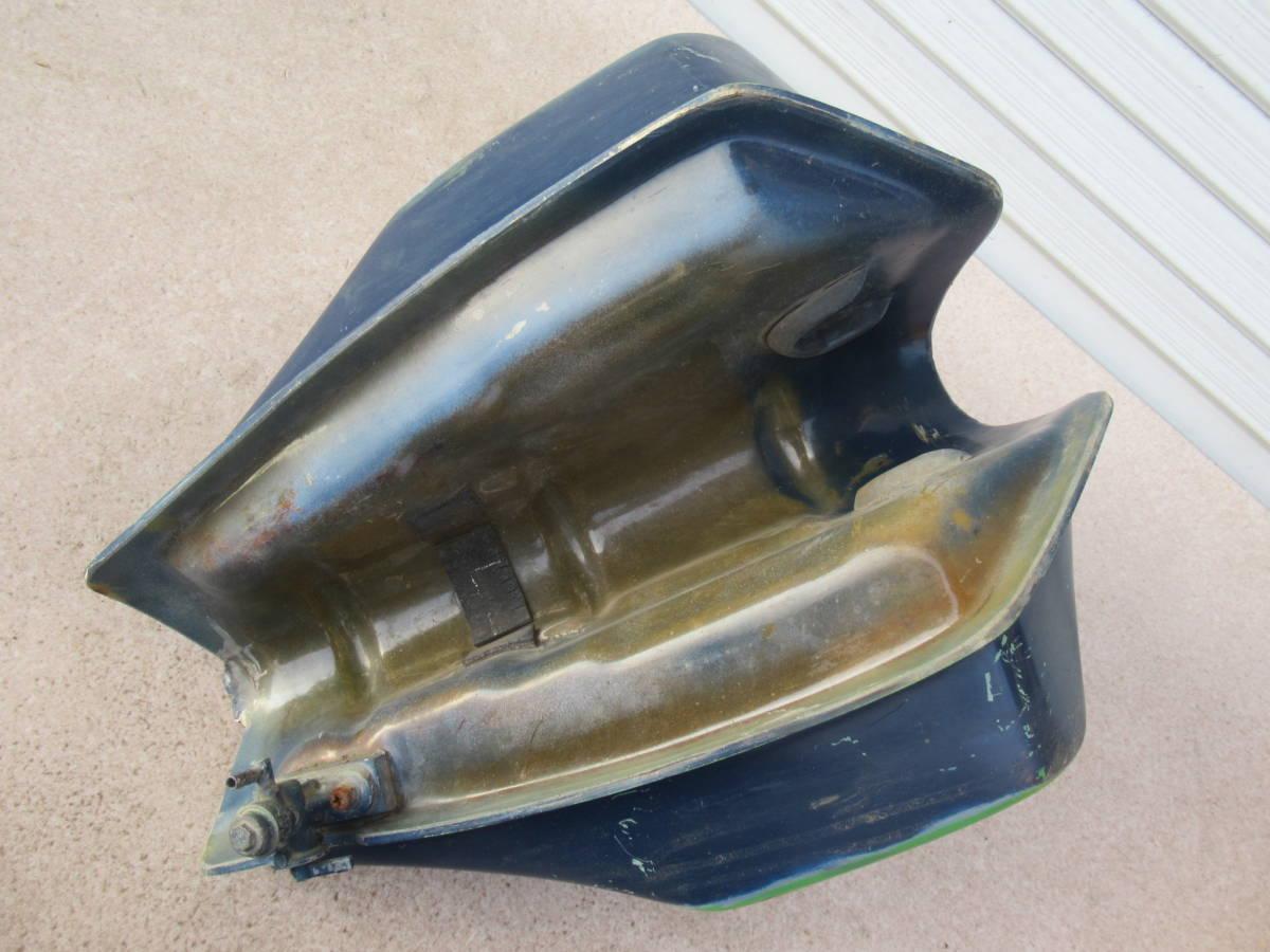 カワサキ KL250 FRP タンク ビッグタンク 中古品 当時物 KAWASAKI PLOT? プロト? ビンテージモトクロス KL250C? A5?_画像7