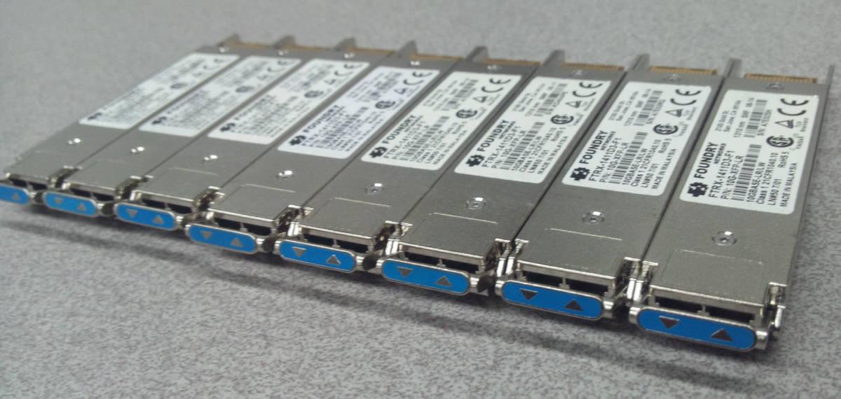 送料無料 トランシーバ モジュール Foundry 10G-XFP-LR 10GB FTRX-1411D3-F1 ファイバーチャネル GBIC SFP+ イーサネットハブ ルーター