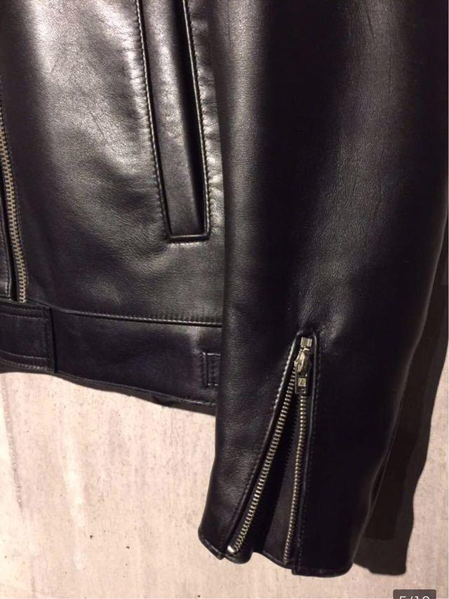 廃盤☆Lewis Leather DOMINATOR 551 ルイスレザー ドミネーター 551 カウハイド 34 メンズ シングル レザーライダースジャケット ブラック_画像5
