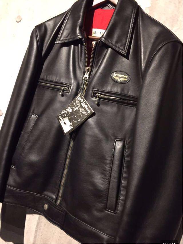 廃盤☆Lewis Leather DOMINATOR 551 ルイスレザー ドミネーター 551 カウハイド 34 メンズ シングル レザーライダースジャケット ブラック_画像2