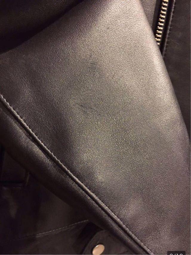 廃盤☆Lewis Leather DOMINATOR 551 ルイスレザー ドミネーター 551 カウハイド 34 メンズ シングル レザーライダースジャケット ブラック_画像9