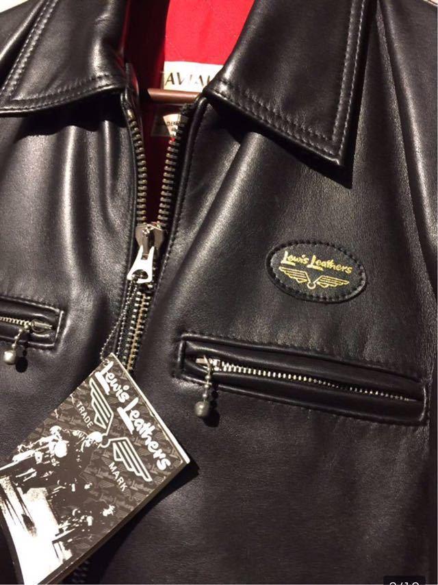 廃盤☆Lewis Leather DOMINATOR 551 ルイスレザー ドミネーター 551 カウハイド 34 メンズ シングル レザーライダースジャケット ブラック_画像3