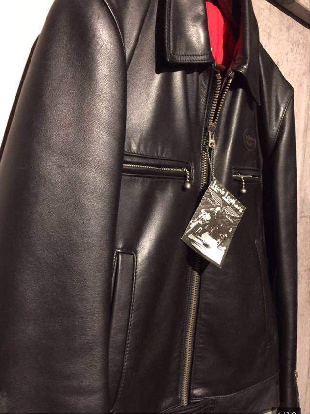 廃盤☆Lewis Leather DOMINATOR 551 ルイスレザー ドミネーター 551 カウハイド 34 メンズ シングル レザーライダースジャケット ブラック_画像4