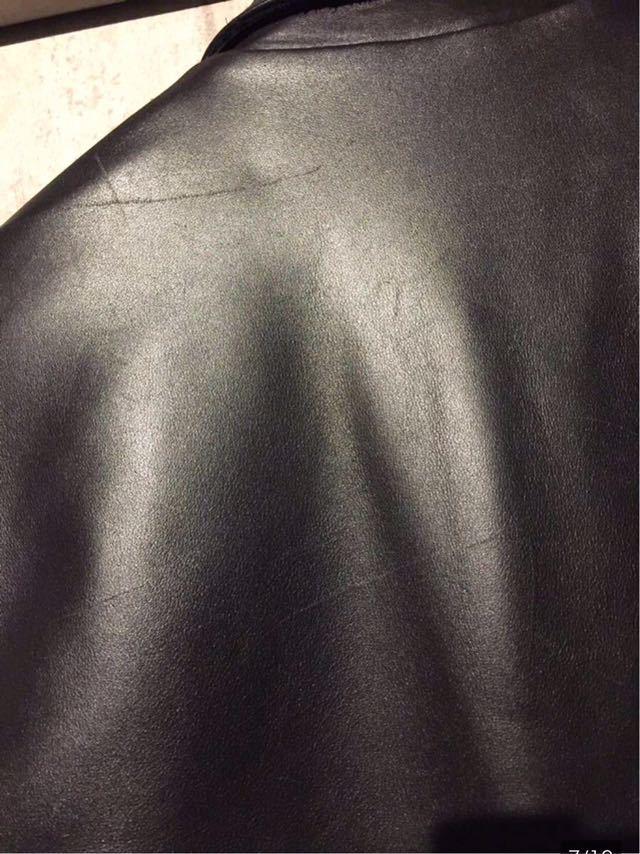廃盤☆Lewis Leather DOMINATOR 551 ルイスレザー ドミネーター 551 カウハイド 34 メンズ シングル レザーライダースジャケット ブラック_画像7