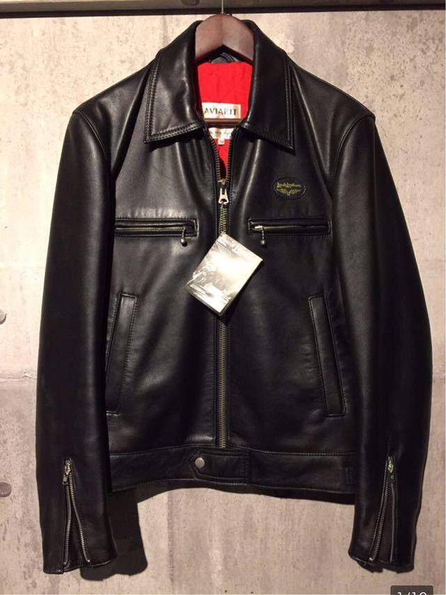 廃盤☆Lewis Leather DOMINATOR 551 ルイスレザー ドミネーター 551 カウハイド 34 メンズ シングル レザーライダースジャケット ブラック_画像1