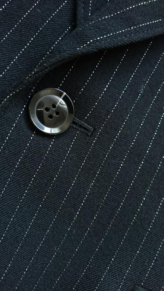 ピンキー&ダイアン PINKY&DIANNE ラメ ストライプ ジャケット アウター レディース フォーマル スーツ 黒 38 テーラードジャケット
