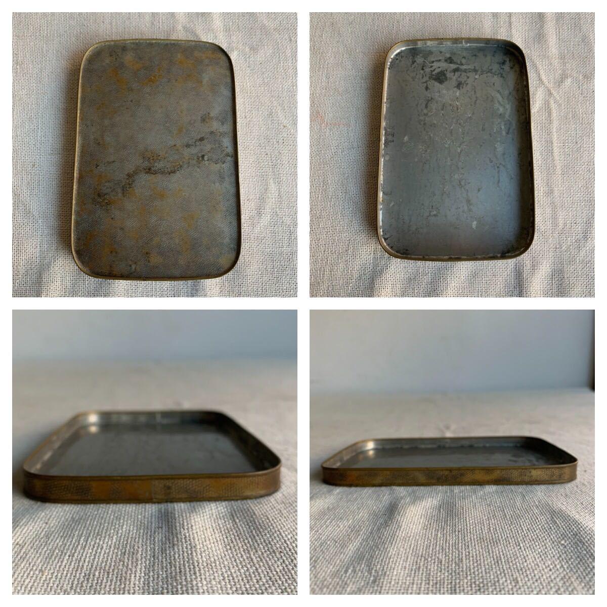 古い真鍮製の入れ子箱2個セット ケース収納旧家蔵出レトロ古民家古道具古物骨董アンティークビンテージシャビーインテリアディスプレイ整理_画像7