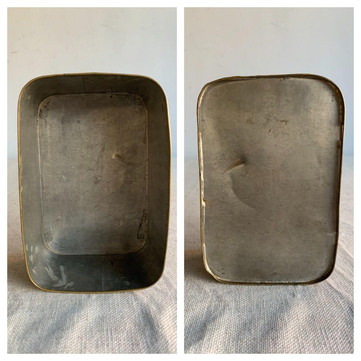 古い真鍮製の入れ子箱2個セット ケース収納旧家蔵出レトロ古民家古道具古物骨董アンティークビンテージシャビーインテリアディスプレイ整理_画像6
