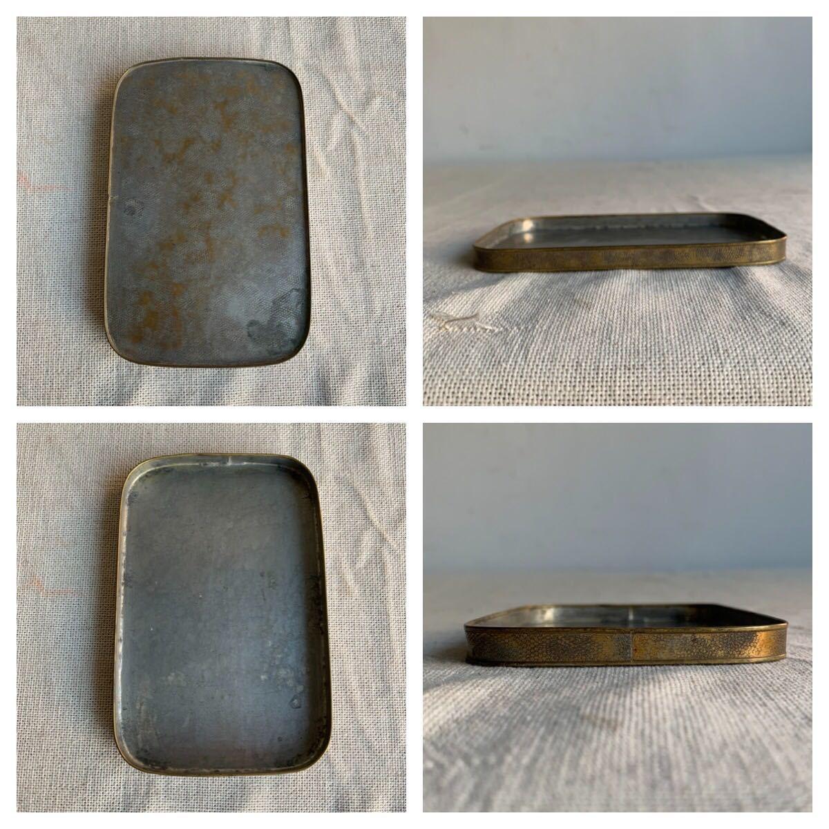 古い真鍮製の入れ子箱2個セット ケース収納旧家蔵出レトロ古民家古道具古物骨董アンティークビンテージシャビーインテリアディスプレイ整理_画像10