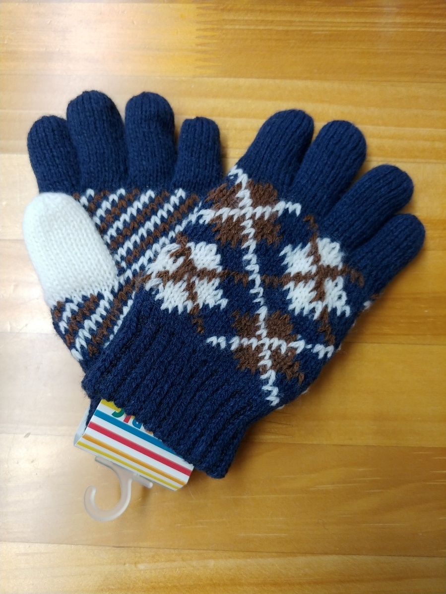 The size of double and double weave or children's gloves.